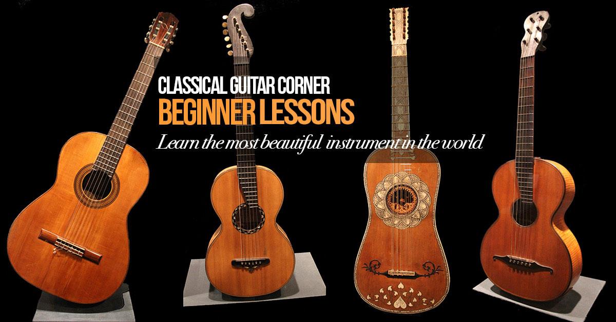 beginner classical guitar lessons classical guitar corner. Black Bedroom Furniture Sets. Home Design Ideas