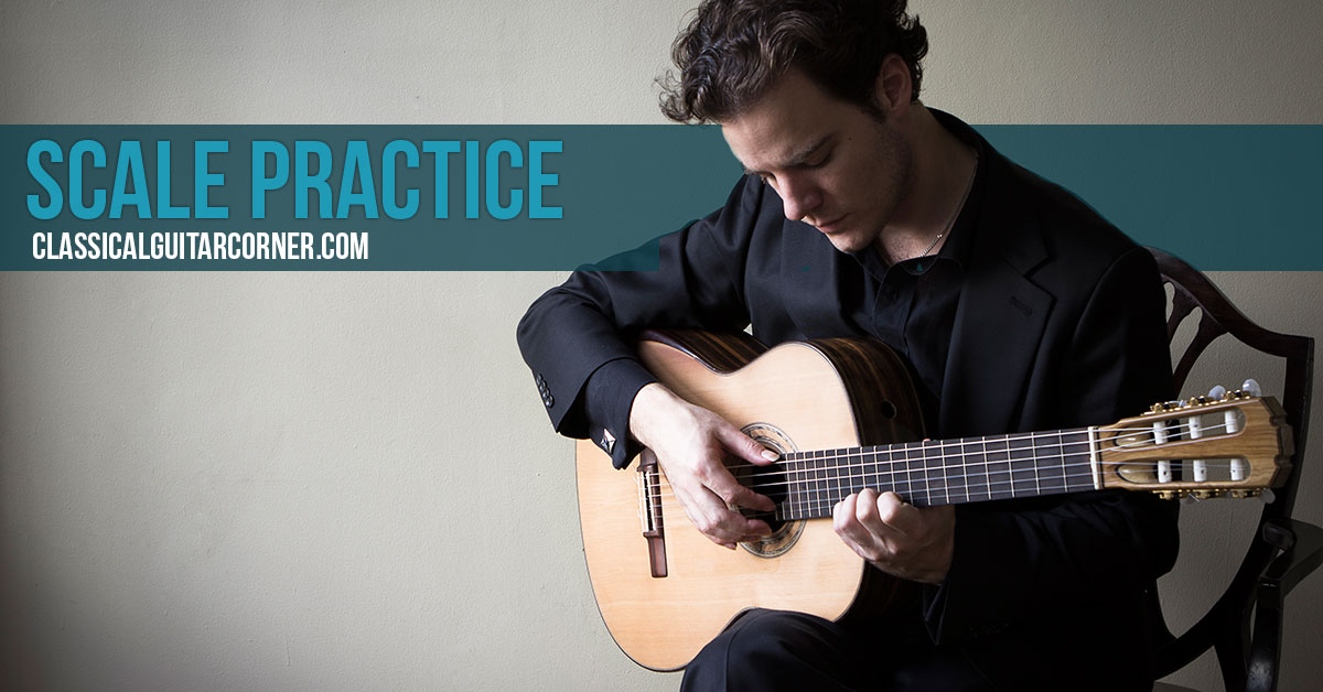 Practicing scales on classical guitar