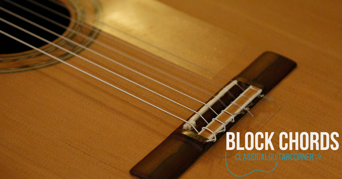 Thumb and fingers: Block Chords